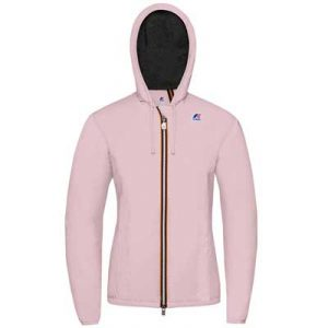 K-way giacca rosa con jersey
