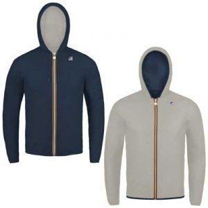 K-Way giacca reverse blu-ghiaccio