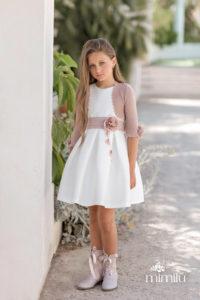 Mimilù abito bianco cintura fiore