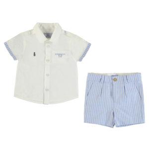 Completo Mayoral camicia e bermuda lino