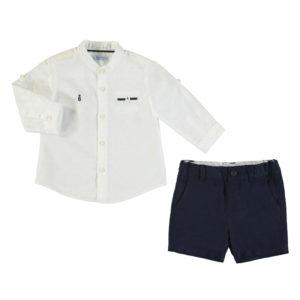 Completo camicia alla coreana e bermuda