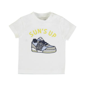 Maglietta mezza manica stampa scarpa