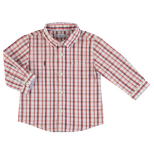 Camicia manica lunga a quadri bambino